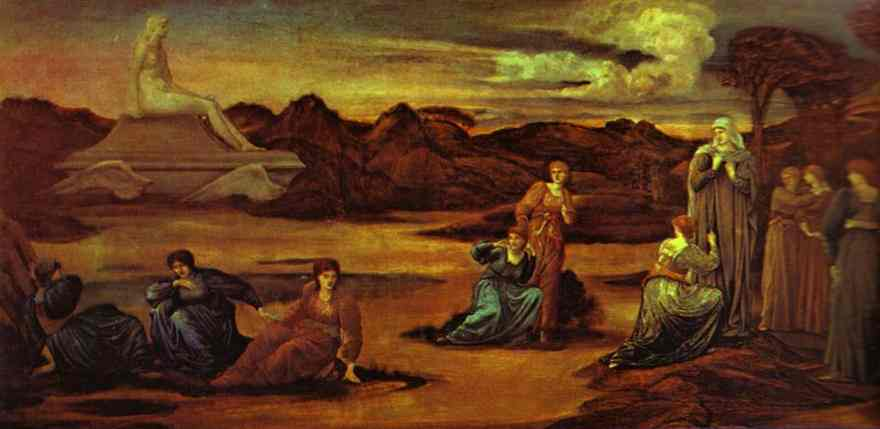 Oil painting:The Passing of Venus. c. 1875