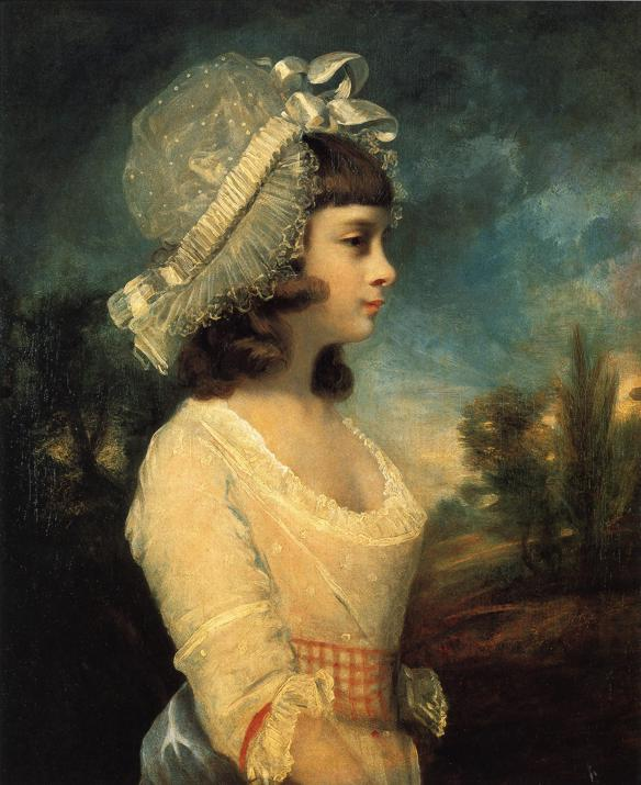 Oil painting:Theresa Parker. 1787
