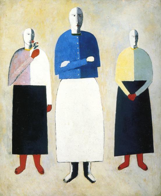 Oil painting:Three Girls. 1928