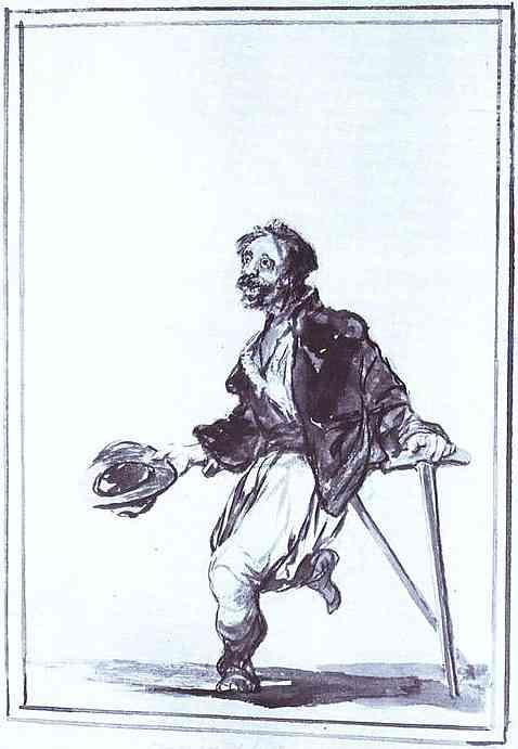 Oil painting:Trabajos de la querra (Consequences of War). c. 1808