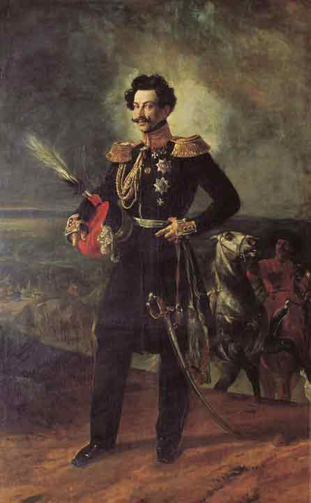 Oil painting for sale:Portrait of Adutant General Count Vasil Alexeevich Perovski, 1837