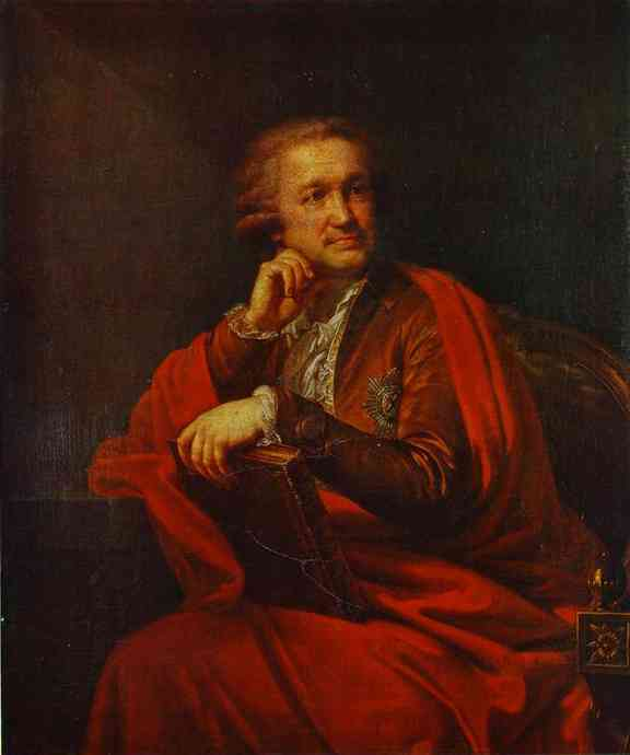 Oil painting:Portrait of Count Alexander Stroganoff.