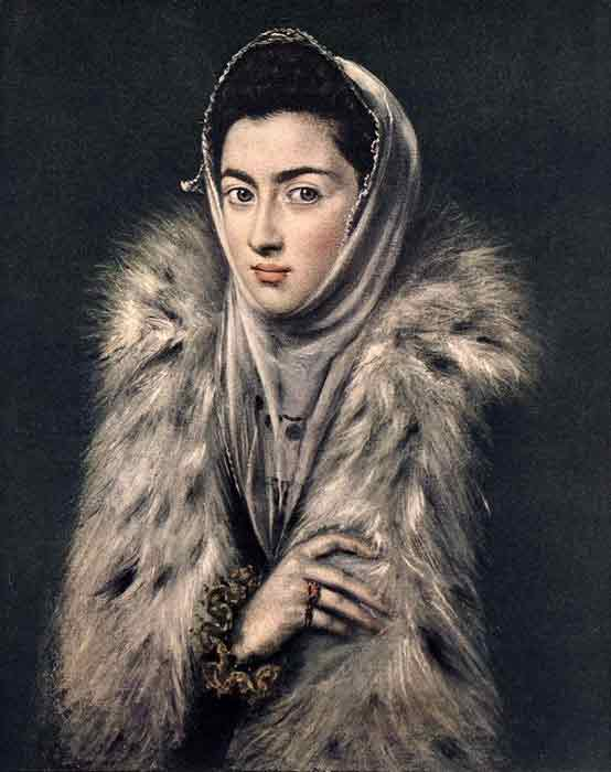 Oil painting for sale:Lady with a Fur, 1577-1580