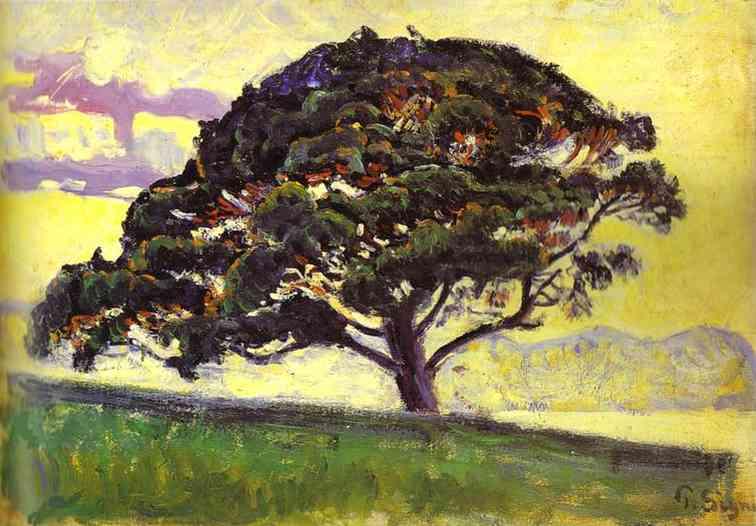 Oil painting:The Pine, St. Tropez (Le Pin, Saint Tropez). c. 1892