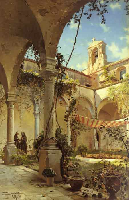 Oil painting for sale:The Cloister, Taormina, 1885