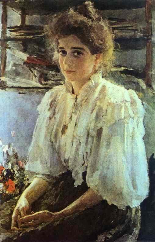 Oil painting:Portrait of Maria Lvova. 1895