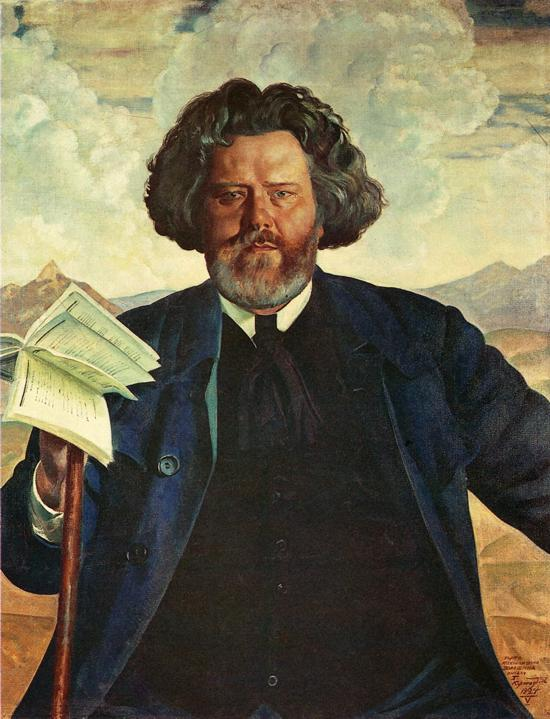 Oil painting: Portrait of the Poet M. Voloshin. 1924