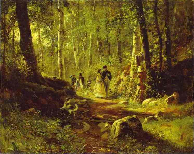 Oil painting:A Walk in the Forest. 1869