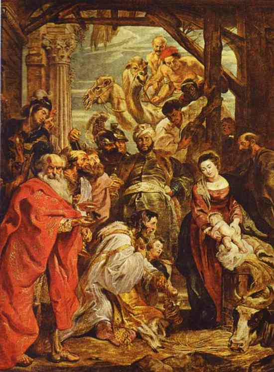 Oil painting:Adoration of the Magi. 1624