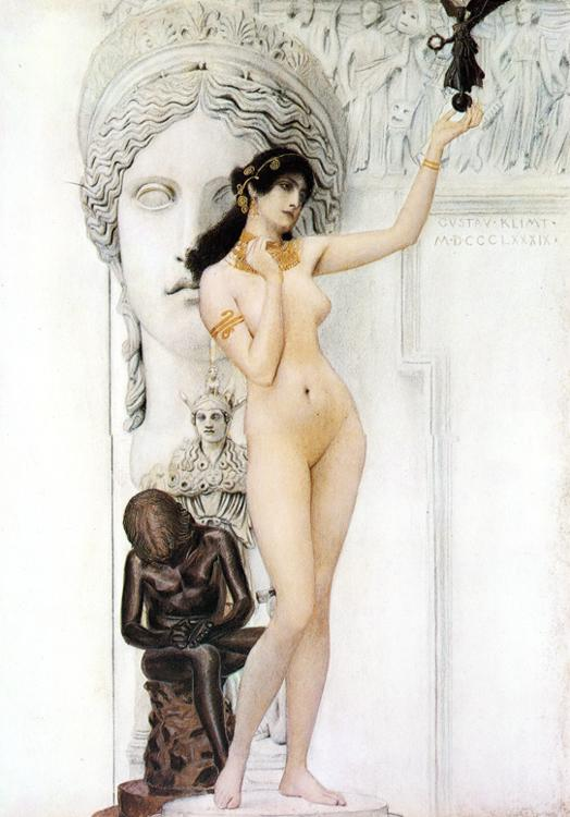 Oil painting:Allegory of Sculpture. 1889