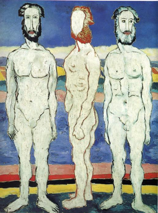 Oil painting:Bathers. 1928
