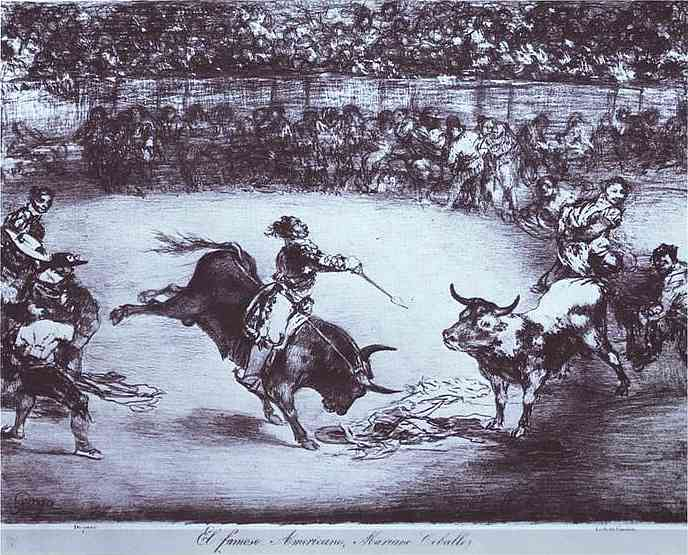 Oil painting:El famoso Americano, Mariano Ceballos (The Famous American, Mariano Ceballos). 1825