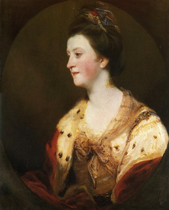 Oil painting:Emily, Duchess of Leinster. 1770