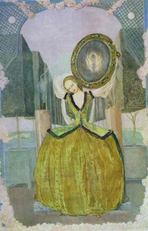 Oil painting:Enchantment. 1900