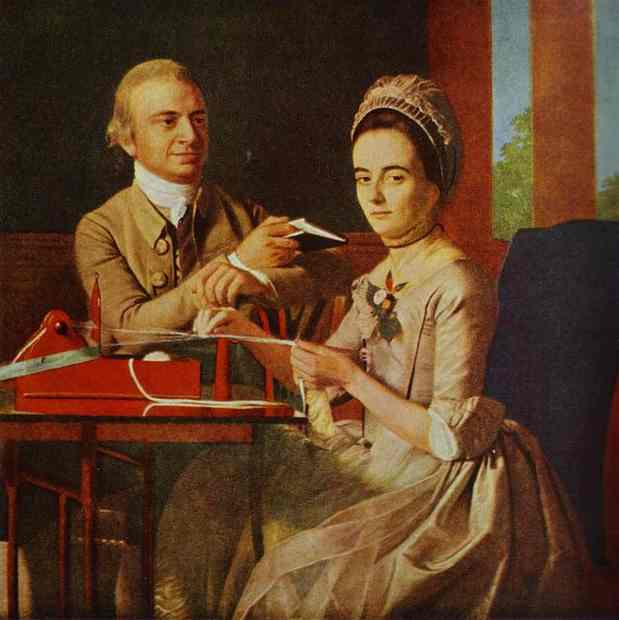 Oil painting:Governor Thomas Miffin and Mrs. Miffin. 1773
