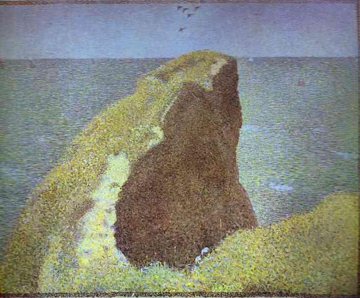 Oil painting:Le Bec du Hoc, Grandcamp. 1885