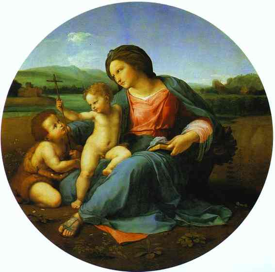 Oil painting:Madonna Alba. 1511