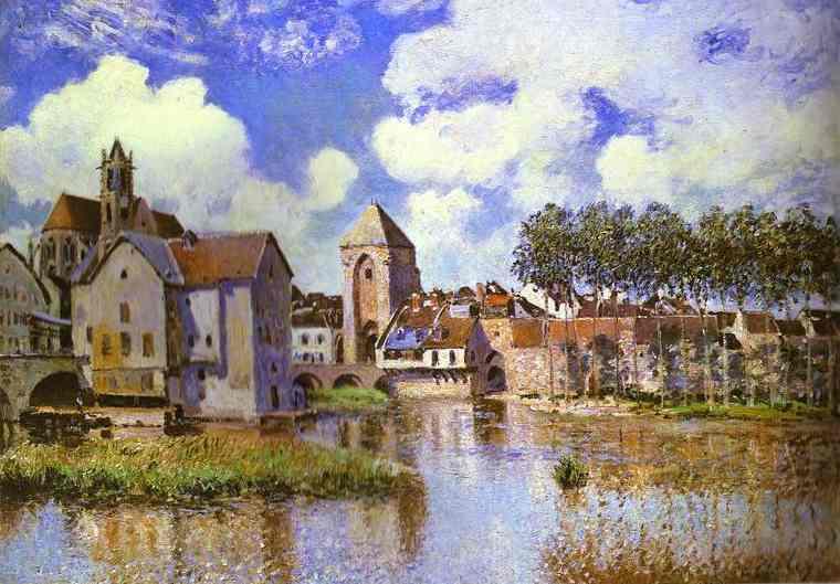 Oil painting:Moret-sur-Loing. 1891