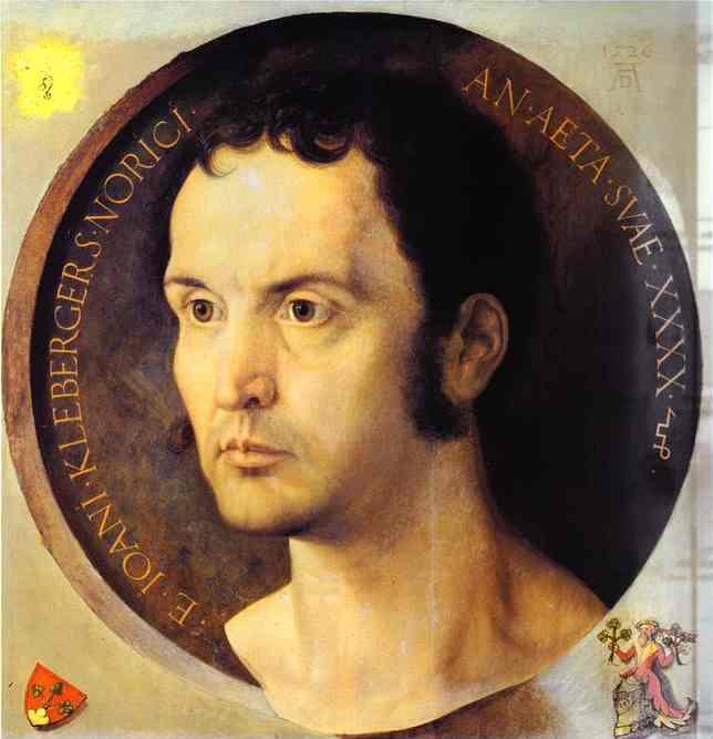 Oil painting:Portrait of Johannes Kleberger. 1526