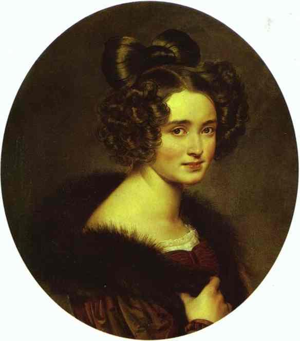 Oil painting:Portrait of O. A. Ryumina. 1826