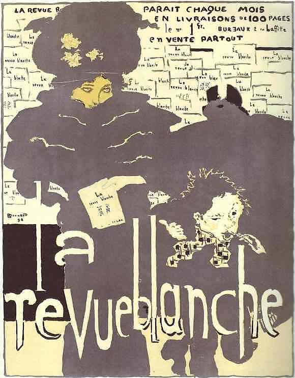 Oil painting:Poster for La Revue blanche, colored lithography. 1894