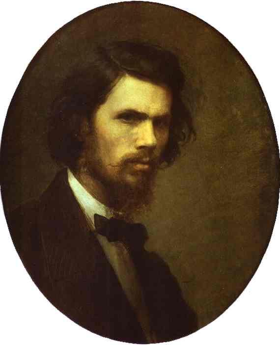 Oil painting:Self-Portrait. 1867