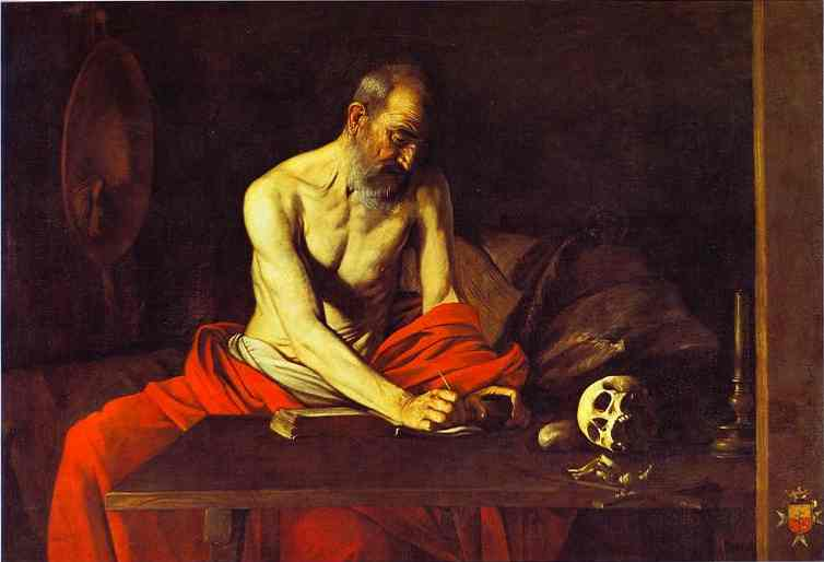 Oil painting:St. Jerome. c.1607