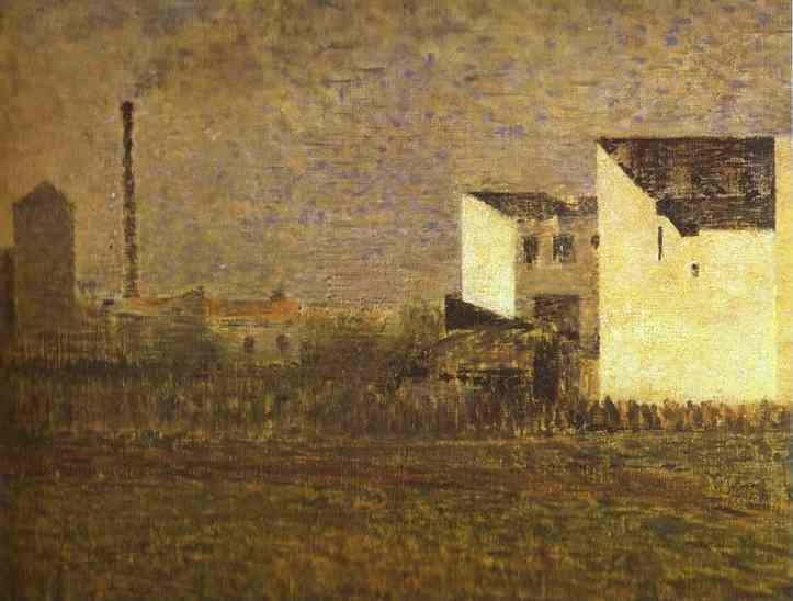 Oil painting:Suburb. 1882