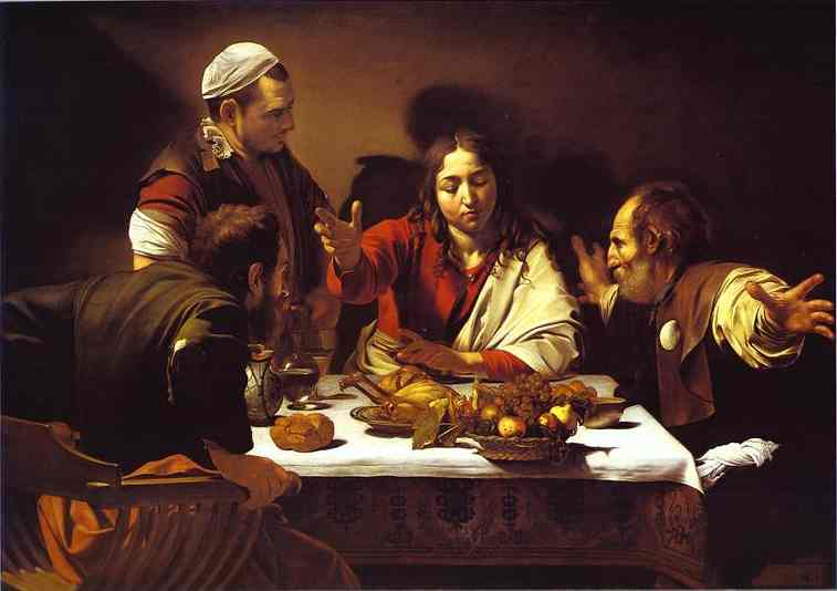 Oil painting:Supper at Emmaus. 1601
