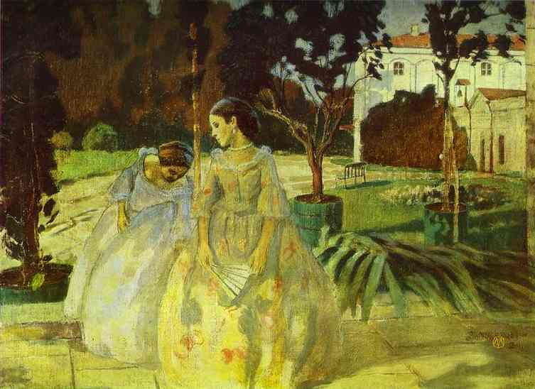 Oil painting:Tapestry. 1901