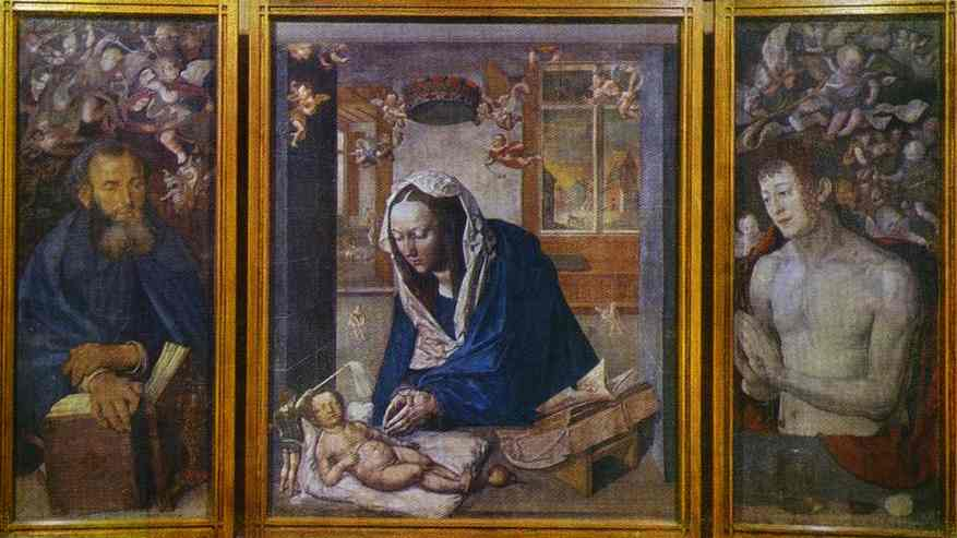 Oil painting:The Dresden Altar. 1496