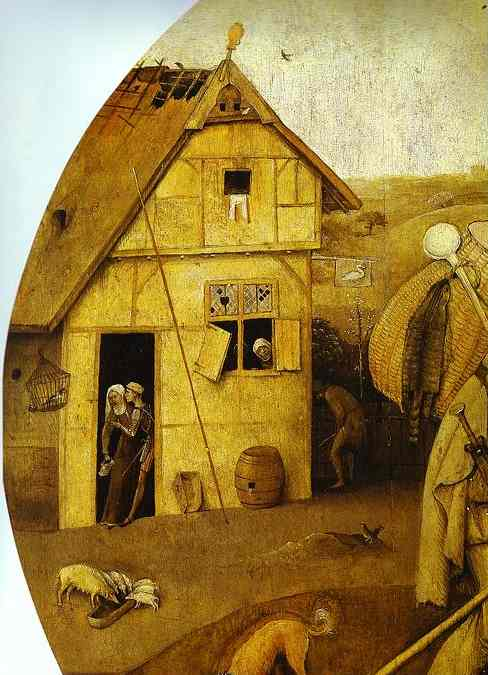 Oil painting:The House of Ill Fame (detail). 1500