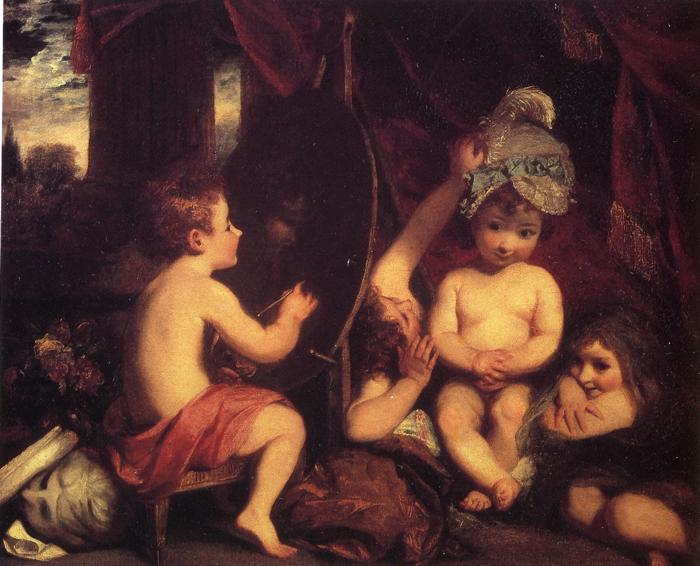 Oil painting:The Infant Academy. Oil on canvas. 114.2 x 142.2 cm. 1782