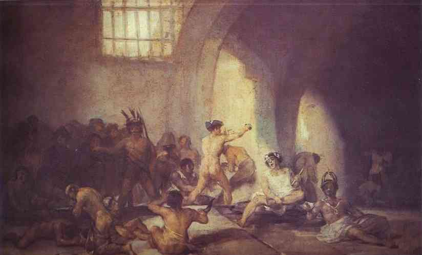 Oil painting:The Madhouse. c. 1812