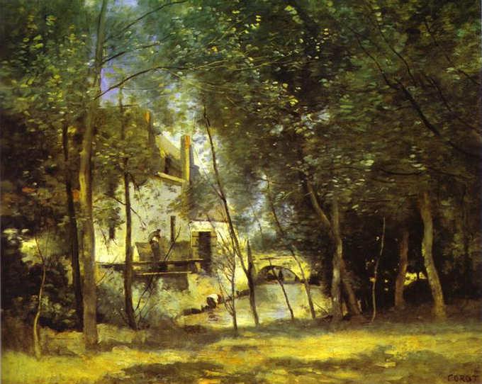 Oil painting:The Mill of Saint-Nicolas-les-Arraz. July 1874
