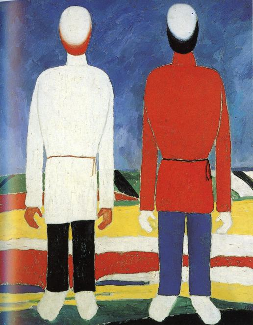 Oil painting:Two Male Figures. 1928