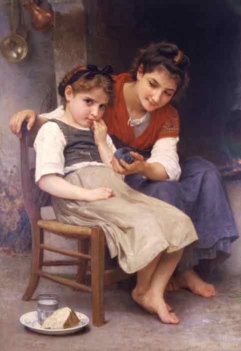 Oil painting for sale:Petite boudeuse [The little sulk], 1888