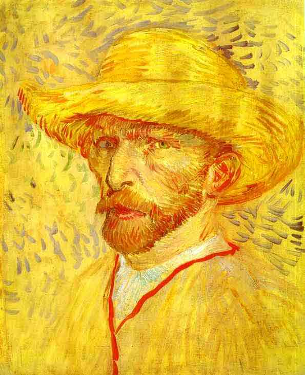 Self-portrait with Straw Hat. 1887