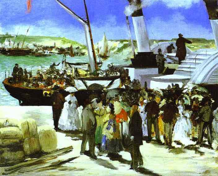 The Depature of the Folkestone Boat. 1869
