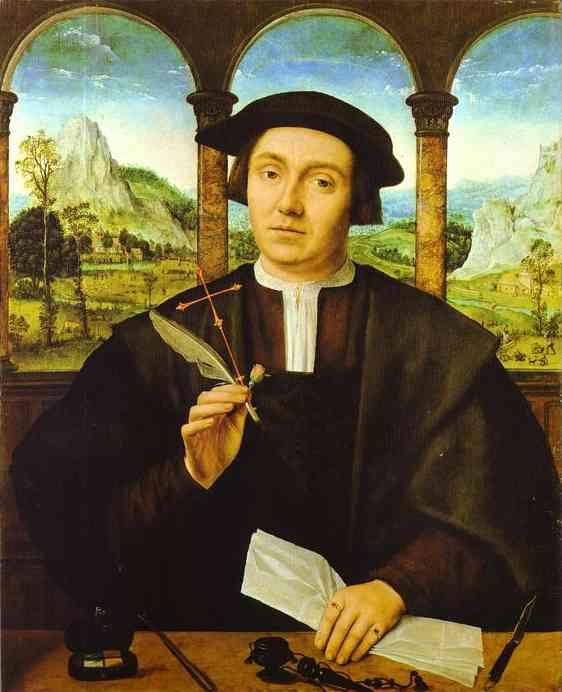 Oil painting:Portrait of a Man. c. 1520