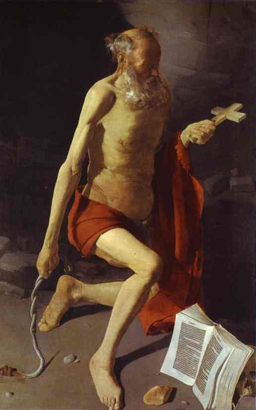 Oil painting:Repenting of St. Jerome. 1628