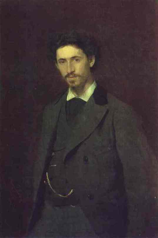 Oil painting:Portrait of the Artist Ilya Repin. 1876