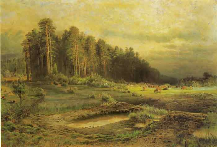 Oil painting for sale:A Forest Island in Sokolnik, 1869