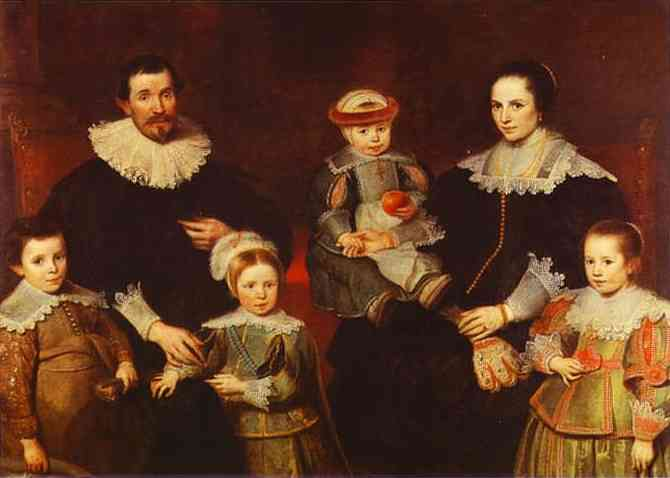 Oil painting:The Family of the Artist. c. 1630-1635.