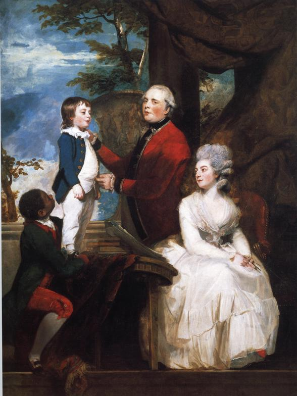 Oil painting:George Grenville, Earl Temple, Mary, Countess Temple, and Their Son Richard. 1780