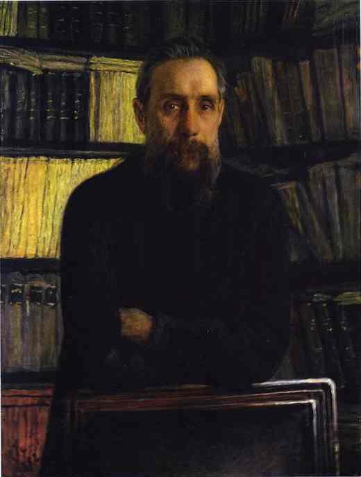 Oil painting:Portrait of Pavel Kostychev. 1892