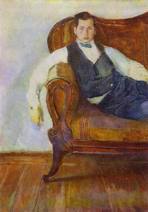 Oil painting:Self-Portrait. 1898