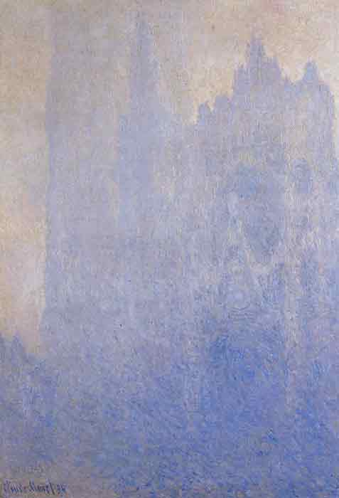 Oil painting for sale:Rouen Cathedral in the Fog , 1893