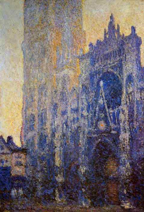 Oil painting for sale:Rouen Cathedral, the Portal, Morning Effect , 1893