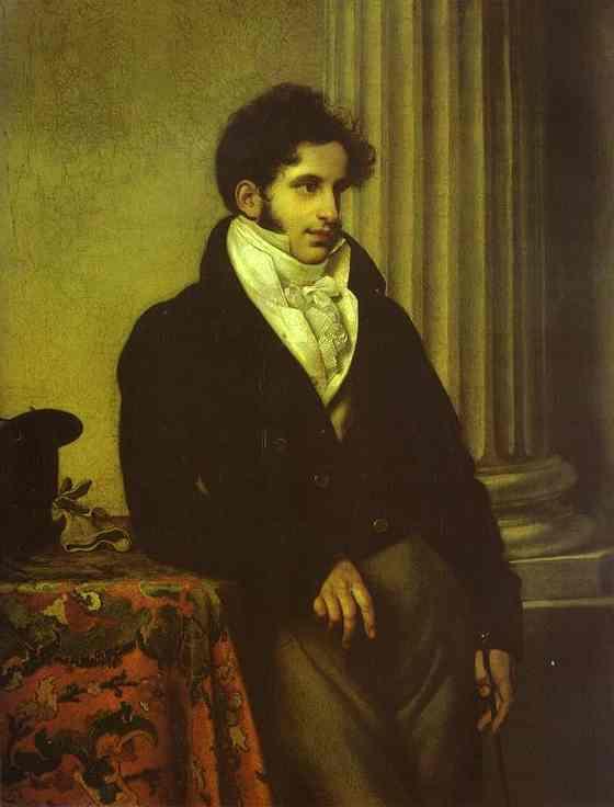 Oil painting:Portrait of Count S. S. Uvarov. 1815